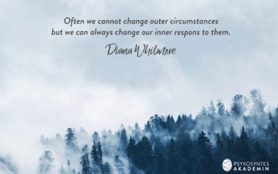 Often we cannot change outer circumstances