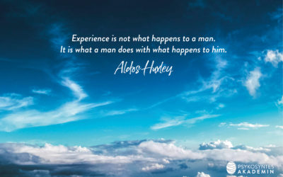 Experience is not what happens to a man.