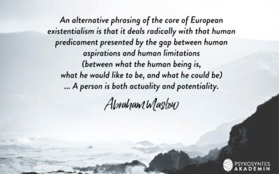 An alternative phrasing of the core of European existentialism