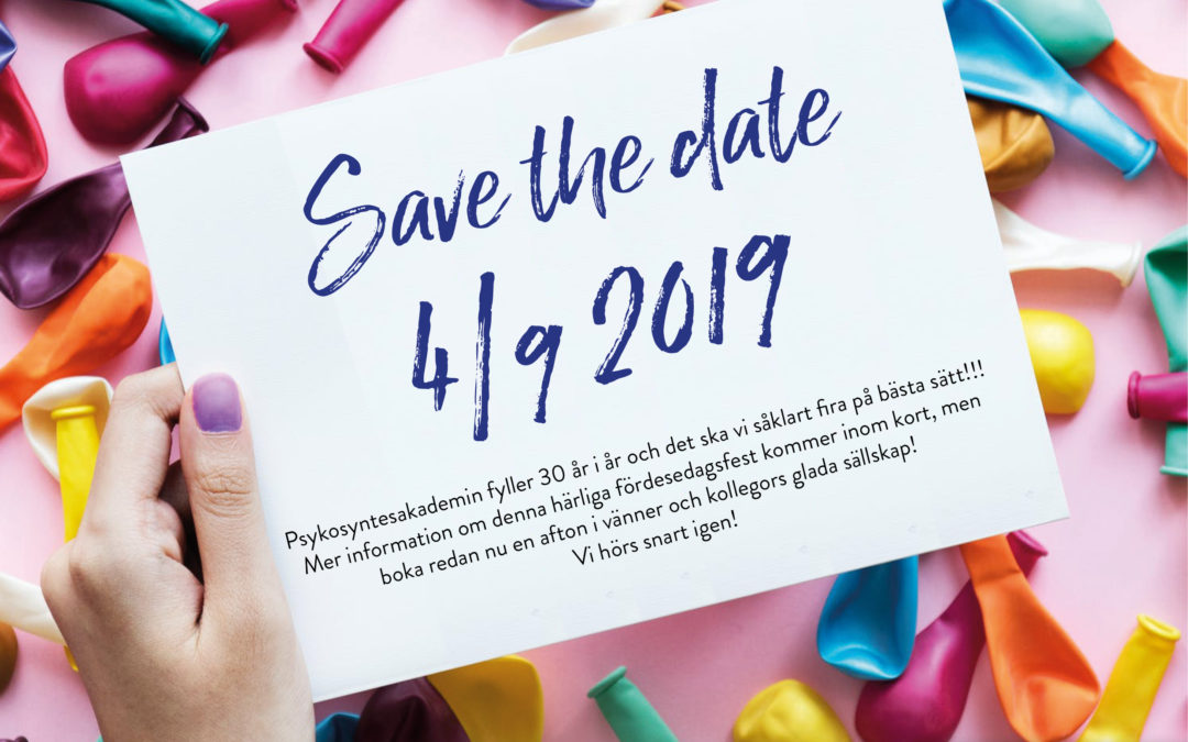 Save the date – 4 september 2019