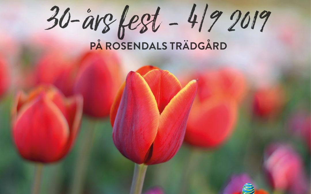 30-års fest på Rosendals trädgård!